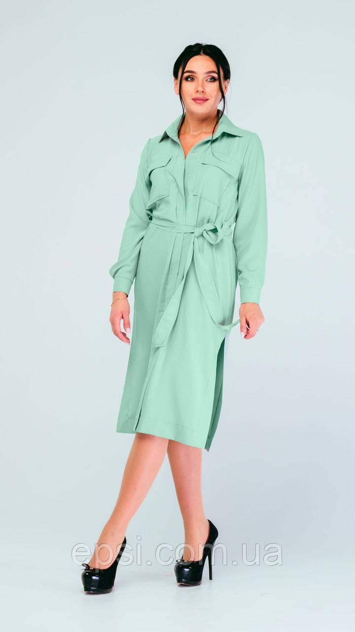 Платье Alpama SO-78229-FIS Фисташковый 46