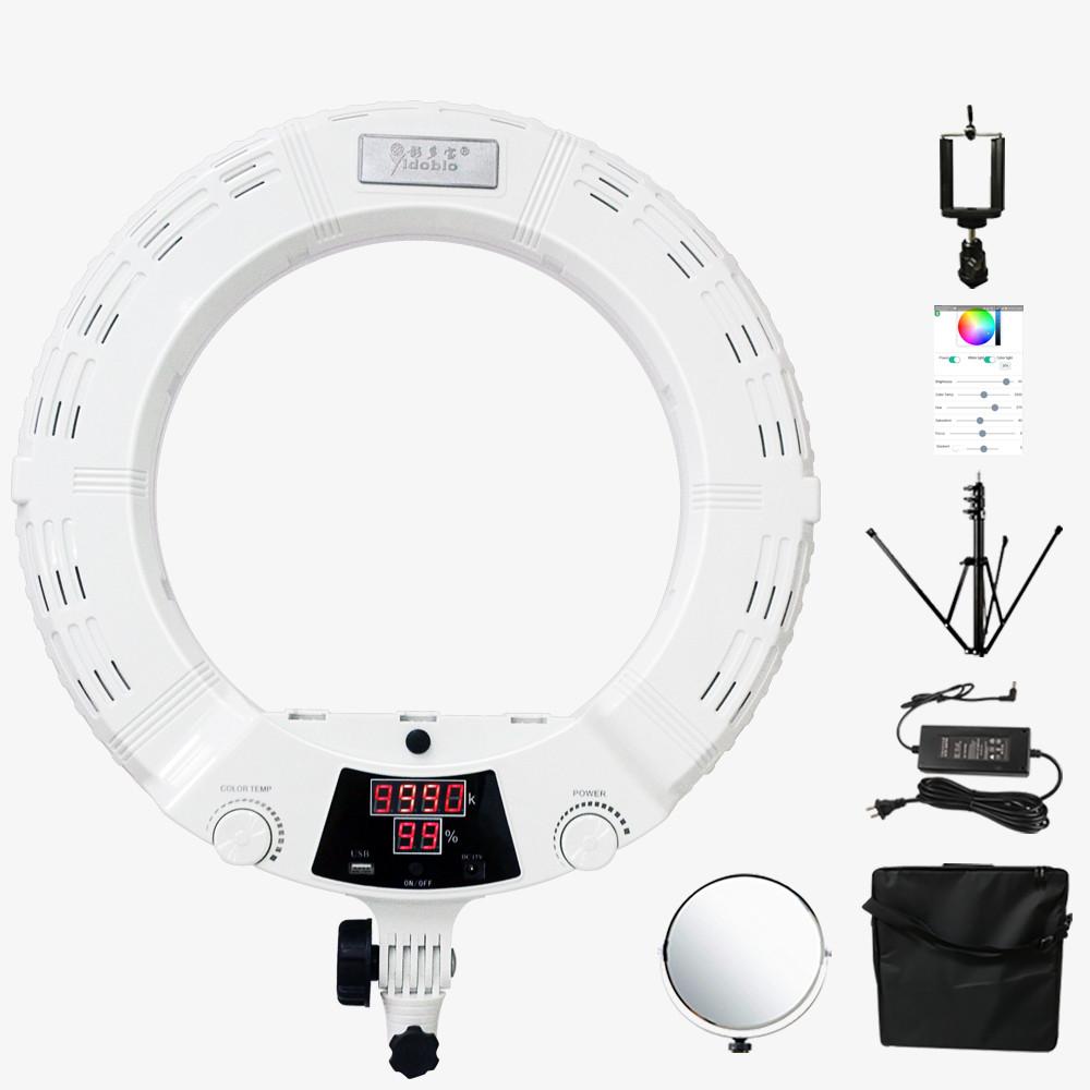 """Кільцевий світильник, Yidoblo QS-480D LED зі стійкою світло кільце лампа 480 світлодіодів 18"""" 45 см 98W Bi-color"""
