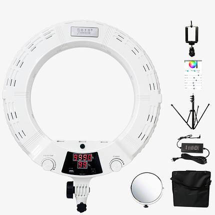 """Кільцевий світильник, Yidoblo QS-480D LED зі стійкою світло кільце лампа 480 світлодіодів 18"""" 45 см 98W Bi-color, фото 2"""