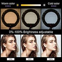 """Кільцевий світильник, Yidoblo QS-480D LED зі стійкою світло кільце лампа 480 світлодіодів 18"""" 45 см 98W Bi-color, фото 3"""