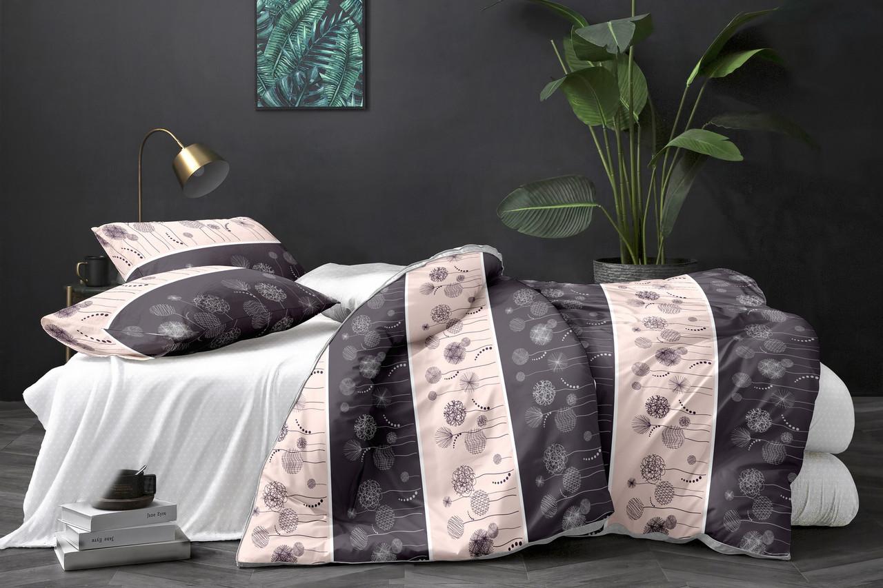 Евро комплект постельного белья «Цветочная нежность» из полиэстера - под заказ