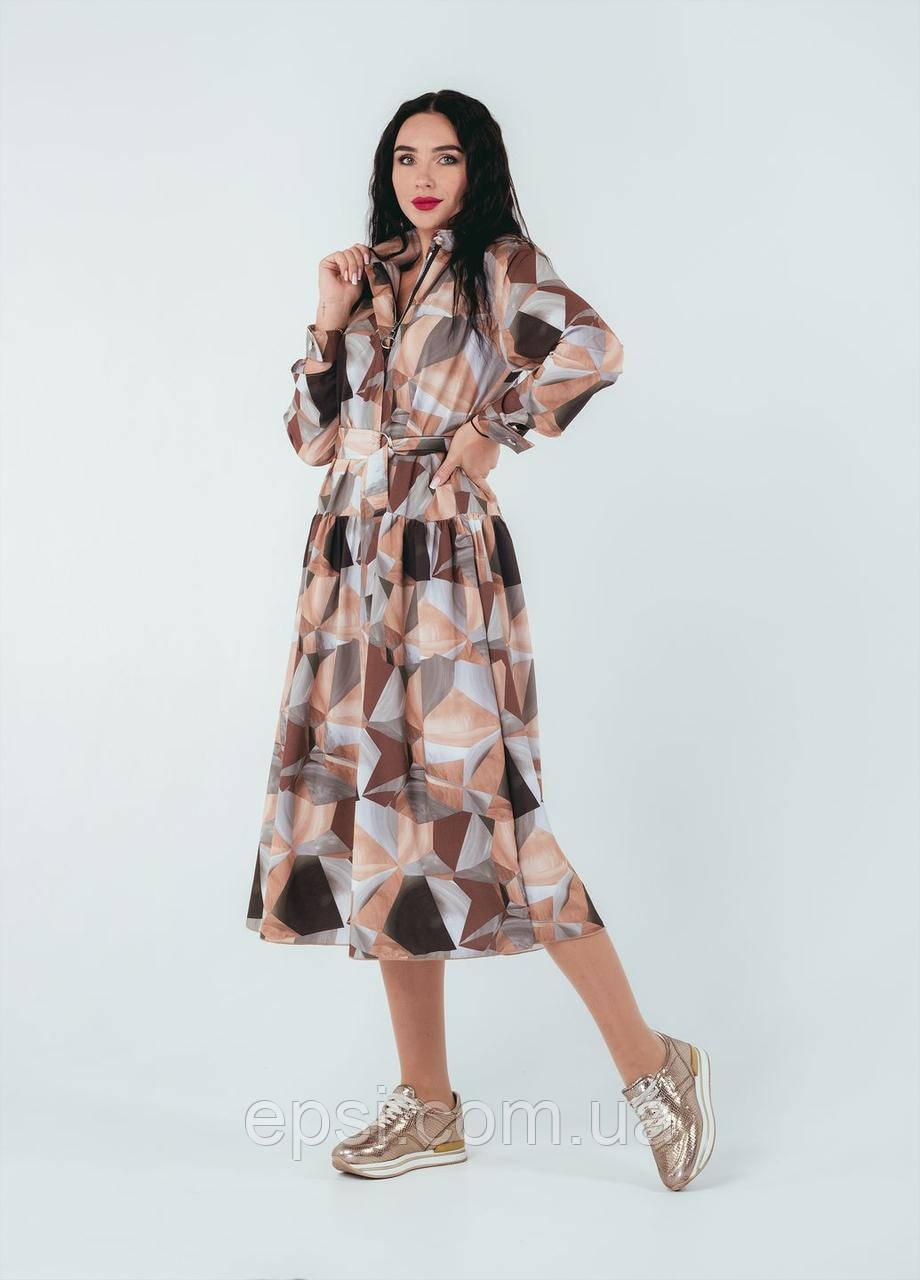 Платье Alpama SO-78255-BEG Бежевое 46