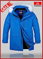 Теплая зимняя мужская куртка Malidinu (18308-3), куртки мужские, спортивная мужская куртка, Электрик