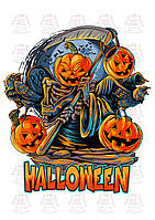 Вафельная картинка на торт Хэллоуин 2