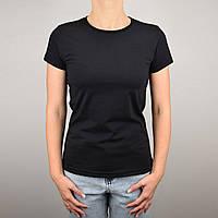 Черная футболка женская  XL