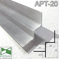 Алюминиевый профиль теневого шва 20х30 мм. Sintezal APT-20