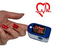Пульсометр для измерения пульса и сатурации JZK-302 Синий, пульсоксиметр на палец с доставкой