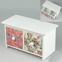 Милая шкатулка - комод для ценных мелочей и украшений 23х11х13 см