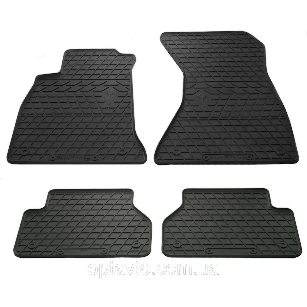 AUDI A4 (B9) - комплект качественных резиновых ковриков. Комплект 4 шт. (2015-2020)
