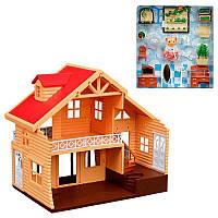 """Будиночок для тварин 012-03 """"Happy Family"""" меблі, світло, фото 1"""