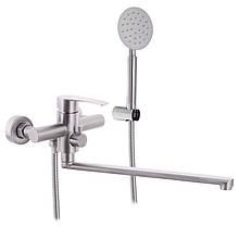 Смеситель для ванны из нерж. стали SUS304 ZERIX JAX-006 (EURO) (ZX3152)