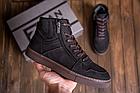 Мужские зимние кожаные ботинки ZG Black Exclusive New, фото 2