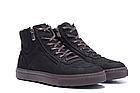 Мужские зимние кожаные ботинки ZG Black Exclusive New, фото 4