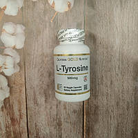 California Gold Nutrition L-Tyrosine 60 veg caps 500 mg, тирозин Калифорния голд нутришн