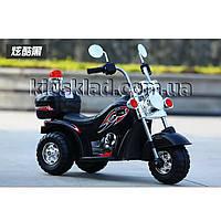 Детский мотоцикл Harley-David (мотора 18W, свет) Baby Tilly T-7230 BLACK Черны | Детский электромотоцикл Тилли