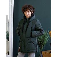 Стильная теплая зимняя мальчуковая куртка размеры 128-158
