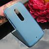 Чехол накладка для Motorola Moto X Play XT1562 голубой