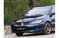 "Накладка на передний бампер Mitsubishi Lancer 9 ""Sport"" V2.0, Юбка передняя Митсубиши Лансер 9"