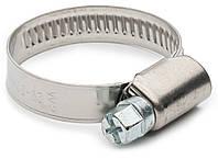 Хомут затяжной червячный 25-40 мм DIN 3017 из нержавеющей стали А2