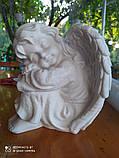 Скульптуры ангелов для памятников. Ангелочек из мрамора №16, фото 4