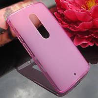 Чехол накладка для Motorola Moto X Play XT1562 розовый