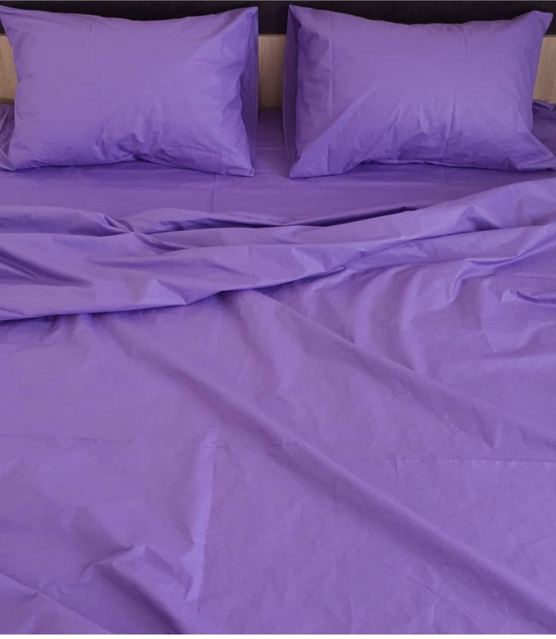 Комплект постельного белья  Бязь GOLD 100% хлопок Фиолетовый