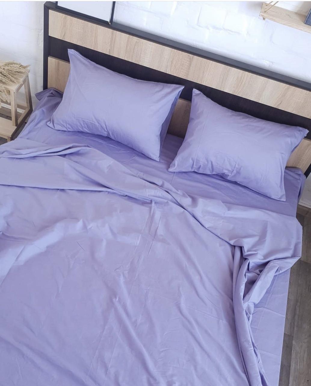 Комплект постельного белья  Бязь GOLD 100% хлопок Сиреневый