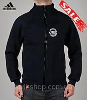 Мужская теплая спортивная кофта Adidas (Адидас) Porsche Design (PD2016-1), свитшот, толстовка, Темно синий