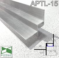 Алюминиевый профиль теневого шва c LED-подсветкой, 15х20 мм. Sintezal APTL-15
