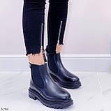 Женские ботинки ЗИМА черные эко кожа, фото 3