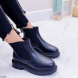Женские ботинки ЗИМА черные эко кожа, фото 5