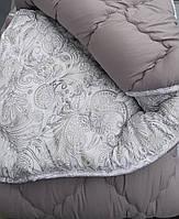 Полуторное одеяло зимнее 145х210 ОДА холлофайбер микрофибра серое