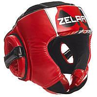 Шлем боксерский открытый PU ZELART красный