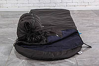Спальный мешок зимний (-7/+15), черный спальник тактический армейский для похода весна и осень
