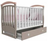 Детская кроватка Верес Соня ЛД 6, цвет капучино/розовый