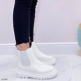 Женские ботинки ДЕМИ / осенние белые эко кожа, фото 3