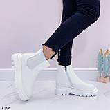 Женские ботинки ДЕМИ / осенние белые эко кожа, фото 7