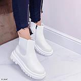Женские ботинки ДЕМИ / осенние белые эко кожа, фото 6