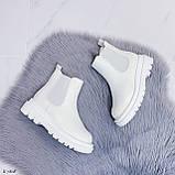 Женские ботинки ДЕМИ / осенние белые эко кожа, фото 5