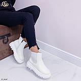 Женские ботинки ДЕМИ / осенние белые эко кожа, фото 4