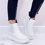 Женские ботинки ДЕМИ / осенние белые эко кожа, фото 2