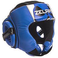 Шлем боксерский открытый PU ZELART синий, фото 1