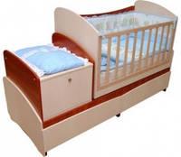 """Детская кроватка-трансформер Вальтер """"Парус"""" 4 в 1"""