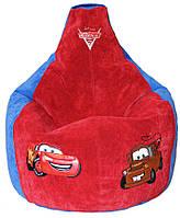 Бескаркасное Кресло мешок груша пуф детское Тачки