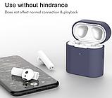 Чохол для навушників Xiaomi Mi Air 2 Колір Білий (напівпрозорий) TWS Bluetooth Silicone Case, фото 3