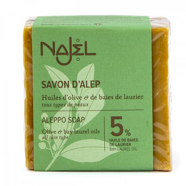 Алеппское мыло, 5% лавровое масло 190г, Najel