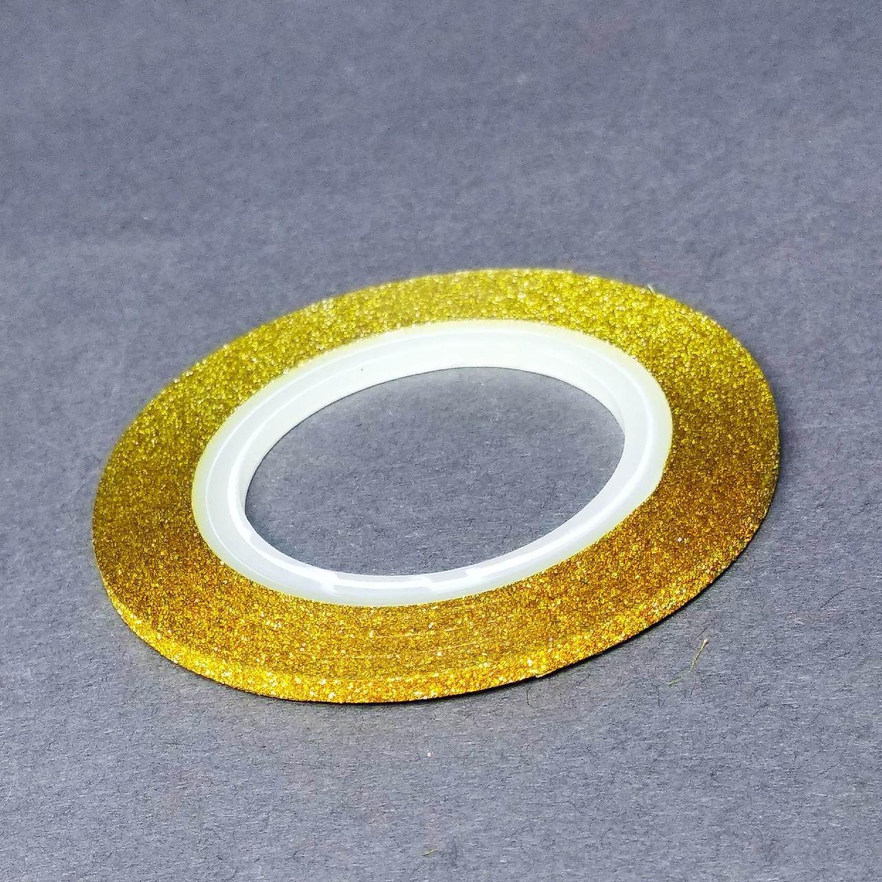 Фольга на липкой основе матовая 2мм золотая