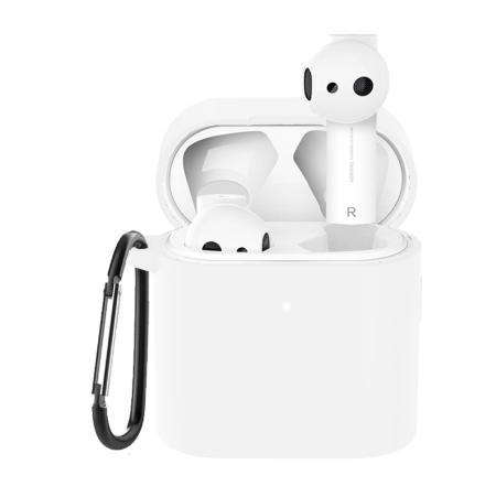 Чохол для навушників Xiaomi Mi Air 2 Колір Білий (напівпрозорий) TWS Bluetooth Silicone Case
