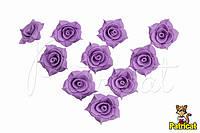 Цветы Розы Сиреневые из фоамирана (латекса) 3 см 10 шт/уп