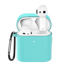 Чохол для навушників Xiaomi Mi Air 2 Колір Зелений (бірюзовий) TWS Bluetooth Silicone Case